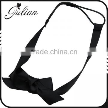 Black Soft Ribbon Stretchy Twisted Elastic Headband,Bowknot Soft Hair Band,For Girls Bow Turban Head wrap FHEHA0240