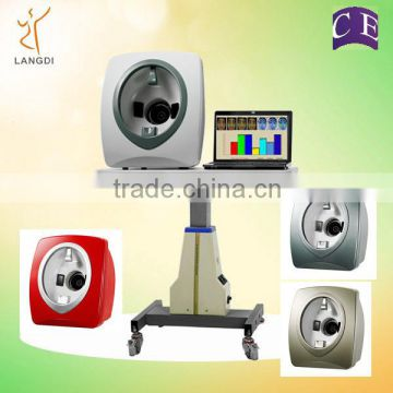 Facial skin analyzer machine with 3 spectrum/3D magic mirror skin analyzer/ portable skin analysis machine