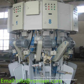 Rotary spiral cement valve sack packaging machine,multiple mouth cement packing machine,filling machine