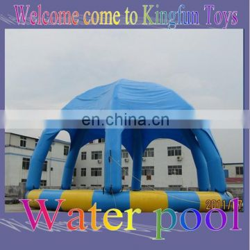inflatable swimming pool with tent