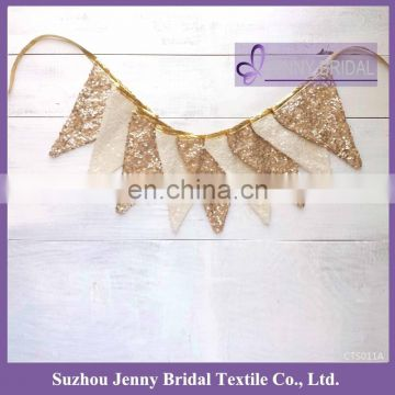 CTS011A fancy party sequin pennant christmas garland