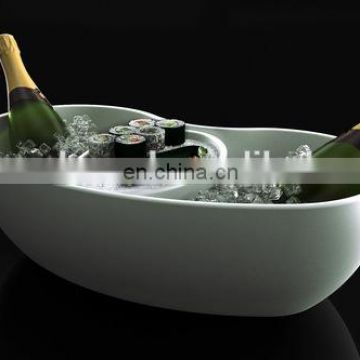 Plastic Oval Shape LED Ice Bucket
