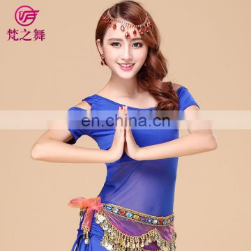 Sexy Americal practice short sleeve belly dance top clothes S-3080