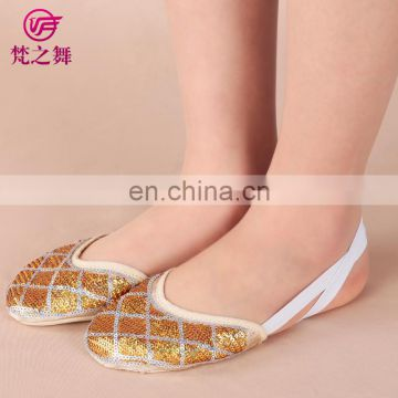 X-8054 Fashion performance full sequins half sole belly dance shoes