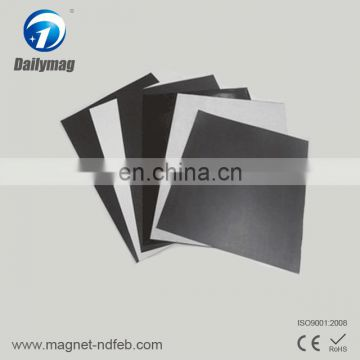 Flexible rubber magnet with double-sided tape