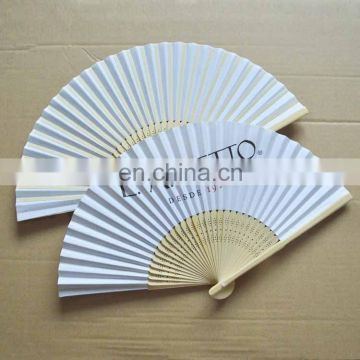 antique Japanese paper hand printed fan
