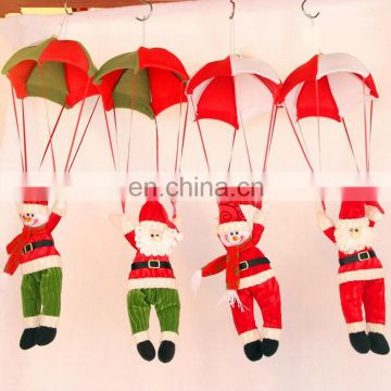2015 New design Parachute Santa Clause Pendant for Christmas tree X'mas Party gift