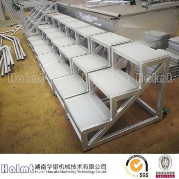 3-Step Safety Angle Industrial and Warehouse Ladder with Serrated Tread