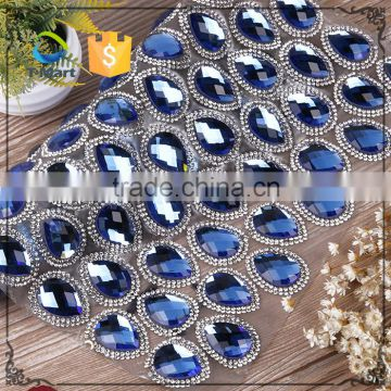 Shinning Hot Fix Big Glass Stone Roll Crystal Rhinestone Mesh                                                                         Quality Choice