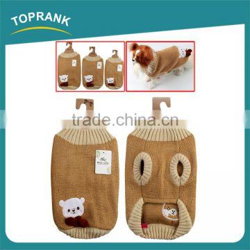 Wholesale Bear Pattern Winter Small Easy Knit Dog Sweater Pattern