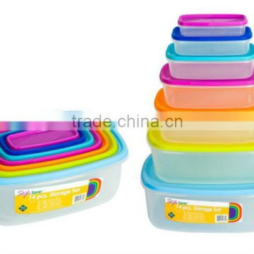 Rainbow Food Storage Set, Walmart Square Plastic Storage Containers, rectangle Storage Container