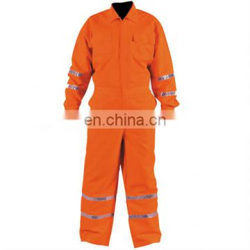 red reflective coveralls work unifoem in work clothes