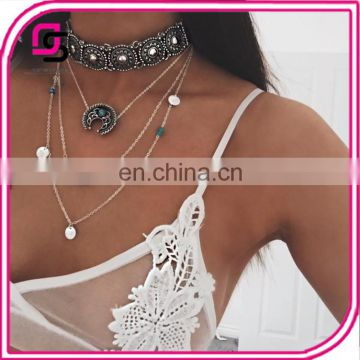 Hot selling fashion jewelry multilayers Choker necklace setting