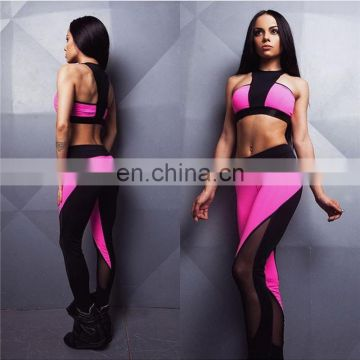 2 piece set sport suit fitness crop top&pants clothes for women