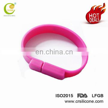 Silicon Wristband Slap Band Bracelet 1gb 2gb 4gb 8gb 16gb Usb Flash Drive