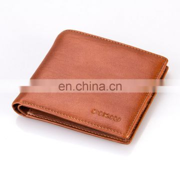 2016 New Design Mens's RFID Blocking Leather Wallet