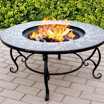 Upgraded] FEMOR Large 3 in 1 Fire Pit with BBQ Grill Shelf,Outdoor Metal Brazier Square Table Firepit Garden Patio Heater/BBQ/Ice Pit with Waterproof Cover (Fire Pit & Grill)