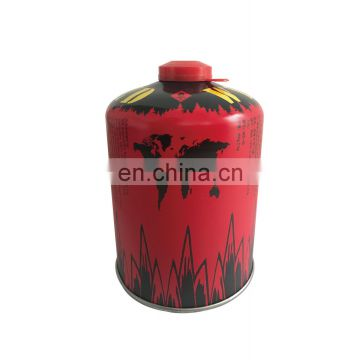 Hebei boutielle gas butane 450g and screw valve butane gas cartridge 450g