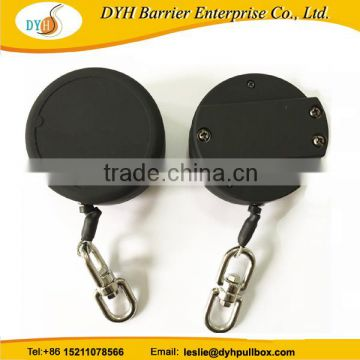 Retractable carabiner safety tool lanyard for high height