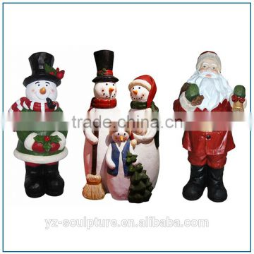 resin christmas santa claus statue for decorating