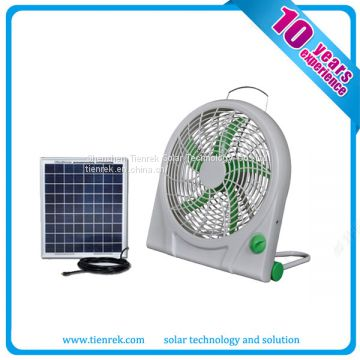 12V Rechargeable DC Solar Fan Mini Fan with Battery 10W Solar Cooling