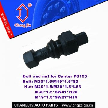 Bolt and nut for Mitsubishi Canter PS125 Rear
