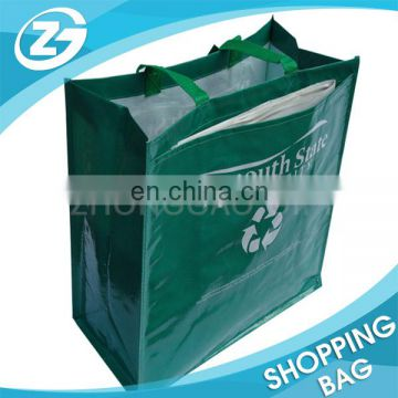 Wholesale Customized Logo CMYK Laminated 120gsm PP Woven Shopping Bag with Durable PP Webbing Handles