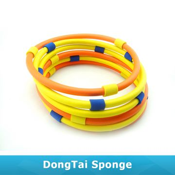 2*45cm Bracket Indoor Colorful Foam Ring Toss