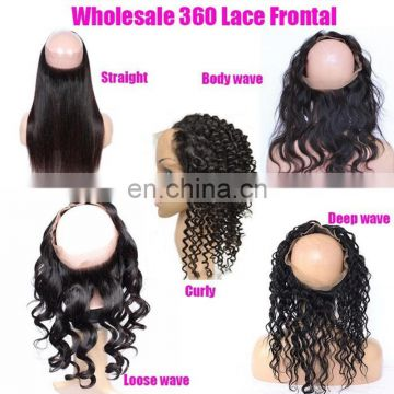 Frontal base 360 frontal lace closure