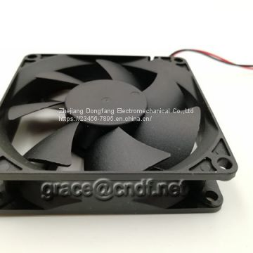 CNDF provide free sample size 80x80x20mm ac cooling fan 24VDC 0.14A 3.36W 3500rpm TFS8020H24
