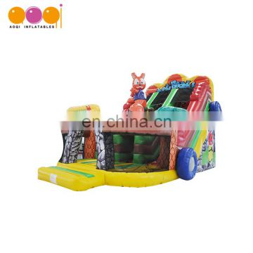 slide type and pvc tarpaulin high quality inflatable slide for play