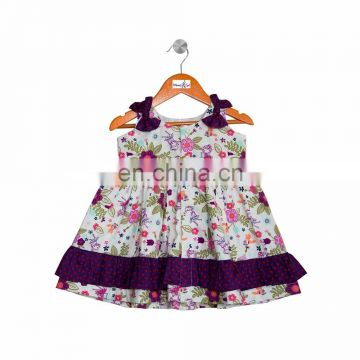 Fairy Printed Frock With Bows And Frills