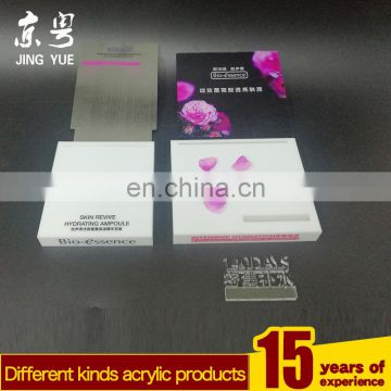 cosmetic shop design custom countertop acrylic display stand/wholesale mac cosmetics display/acrylic cosmetic display