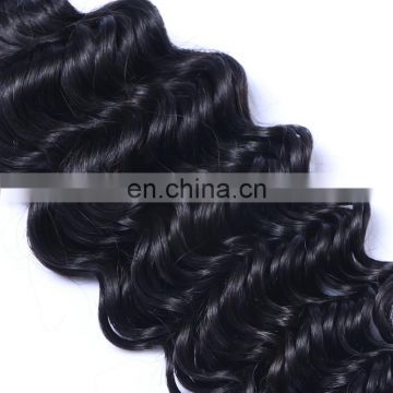 Alibaba.com wholesale human hair weft deep wave color 1# machine sew raw peruvian hair
