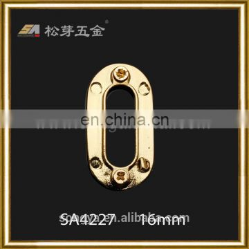 Custom Plated Metal Oval Eyelet, Factory Price Shoe Hardware Oval Eyelet, Zinc Alloy leather Handbags Eyelet