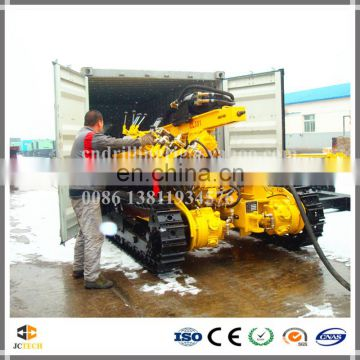 Lower oil consumption crawler full pneumatic DTH blast hole drilling rig