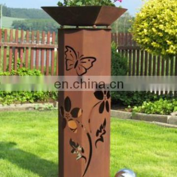 Decorative outdoor advertising box for lighting tracks
