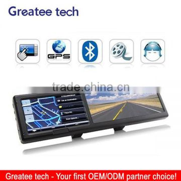 4.3 inch car mirror gps navigation system