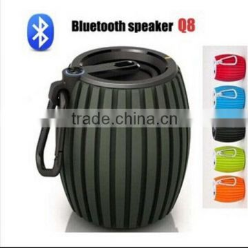 Outdoor Sport Wireless Mini Bluetooth Q8 Speaker With MIC For Andriod Phone Support TF Card Usb With Retail Package