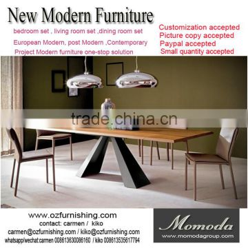 Momoda Luxury Italy Modern Furniture 1PC Customized 8 12 Chairs Extending Dining Table Dubai Middle East Room Of Show