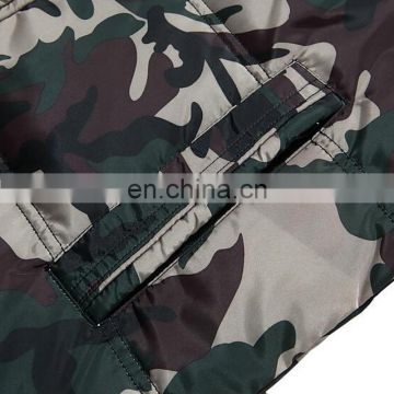 Men style camouflage down jackets with real raccoon fur collar long pattern