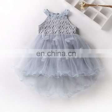 Ivory Crochet Tulle Girl Dress Vintage Baptism Dress Princess Costume Blessing Gown