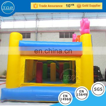 TOP INFLATABLES Hot selling bouncer castle bouncy house inflatable fiberglass water slide tubes for sale