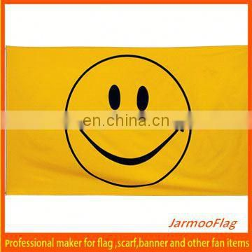polyester smile face flags