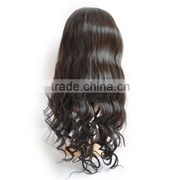 7a Quality Brazilian Human Hair Full Lace Wig,Natural Black Body Wave Full Lace Wig With Baby Hair