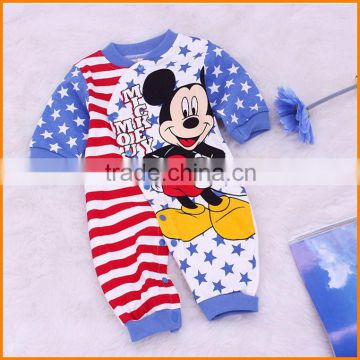 New cartoon Mitch Mini cotton baby romper Jumpsuit infant climbing clothing children's clothing wholesale trade