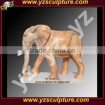 sunset red large marble elephant statue for garden decor