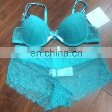 Hot styles Intimates Padded Lace Bra Sets Matching Underwear Sets For Women
