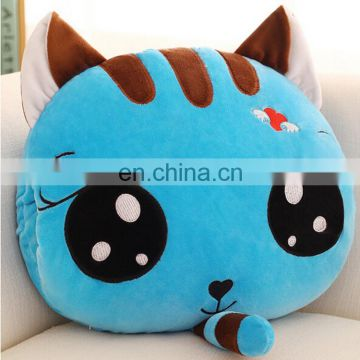 New design plush toy cat cushion with cotton blanket