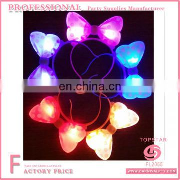 LED Flashing Mickey Minnie Mouse Bow Headband